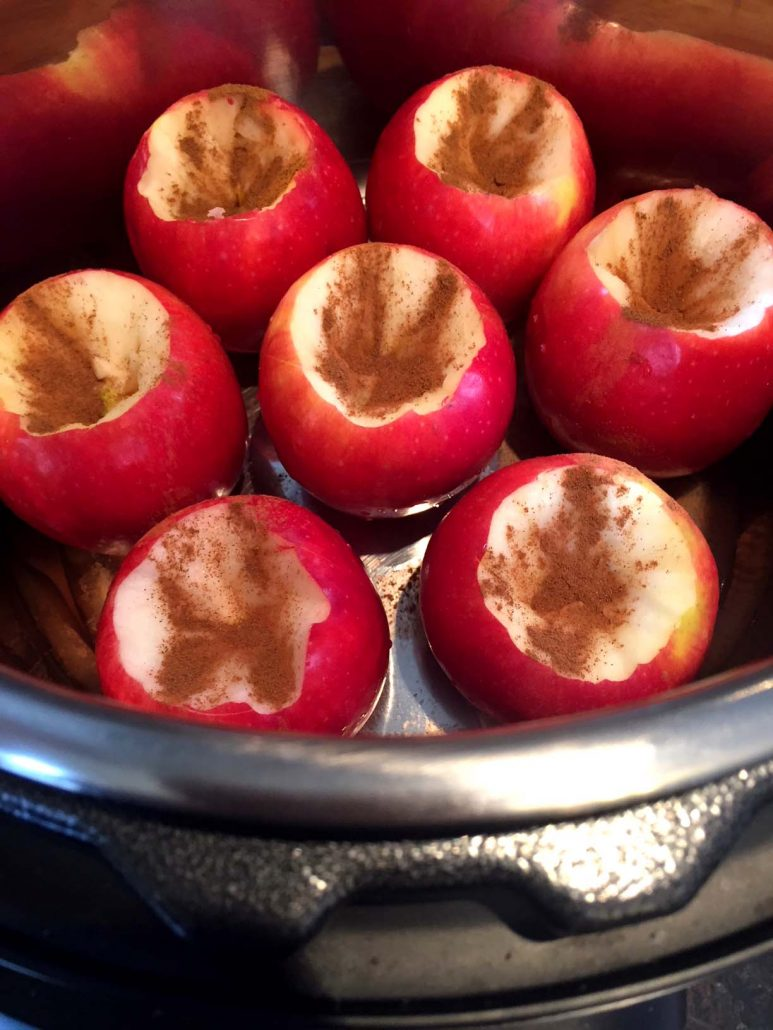 Cinnamon apples in Instant Pot