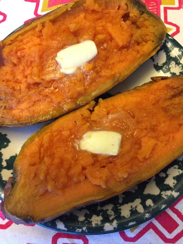 Instant Pot Baked Sweet Potato
