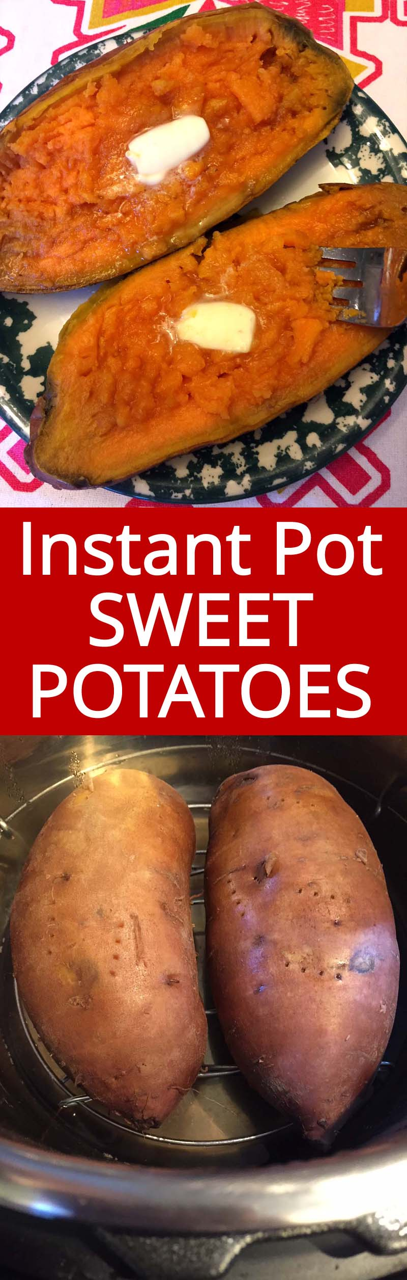 These Instant Pot baked potatoes are AMAZING! Perfectly cooked and so creamy! This is the only way I'll make baked sweet potatoes from now on! Instant Pot rules!!!