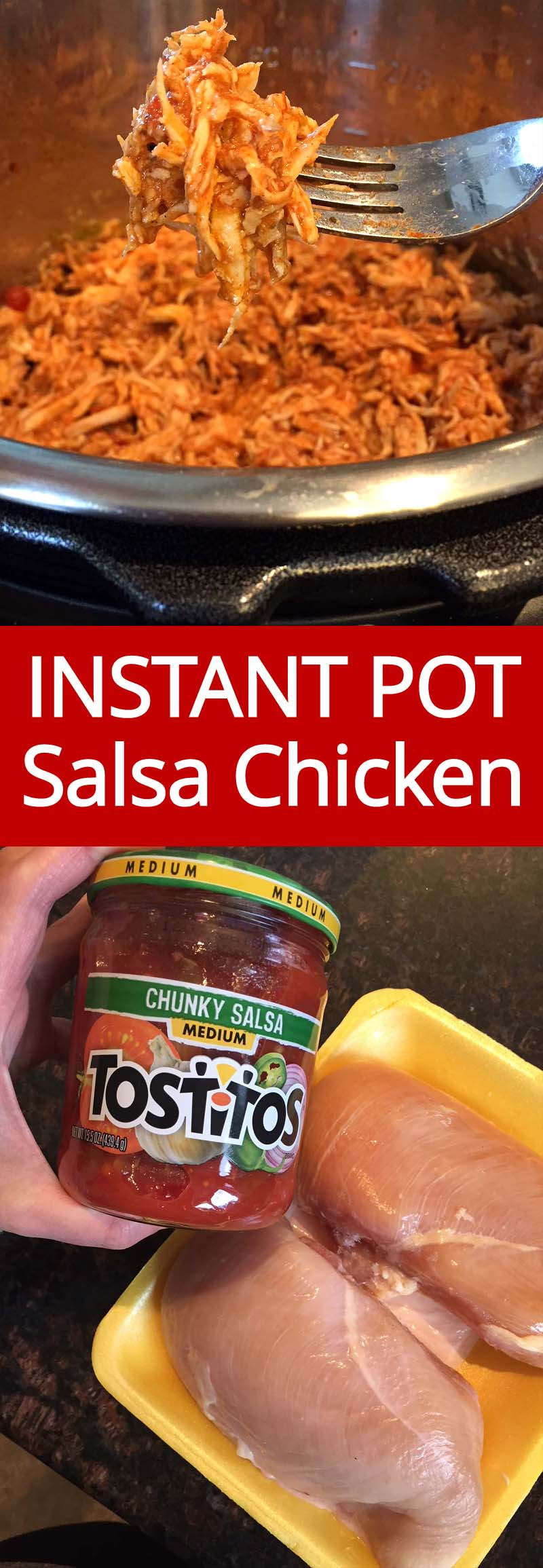 This is the best Instant Pot salsa chicken recipe ever! I've tried many salsa chicken recipes, and this one is the most flavorful! SUPER EASY!!!