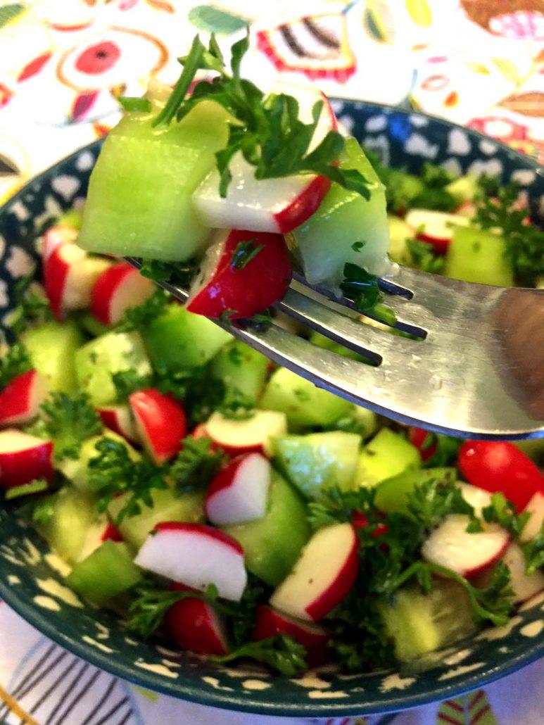 Cucumber Radish Parsley Salad
