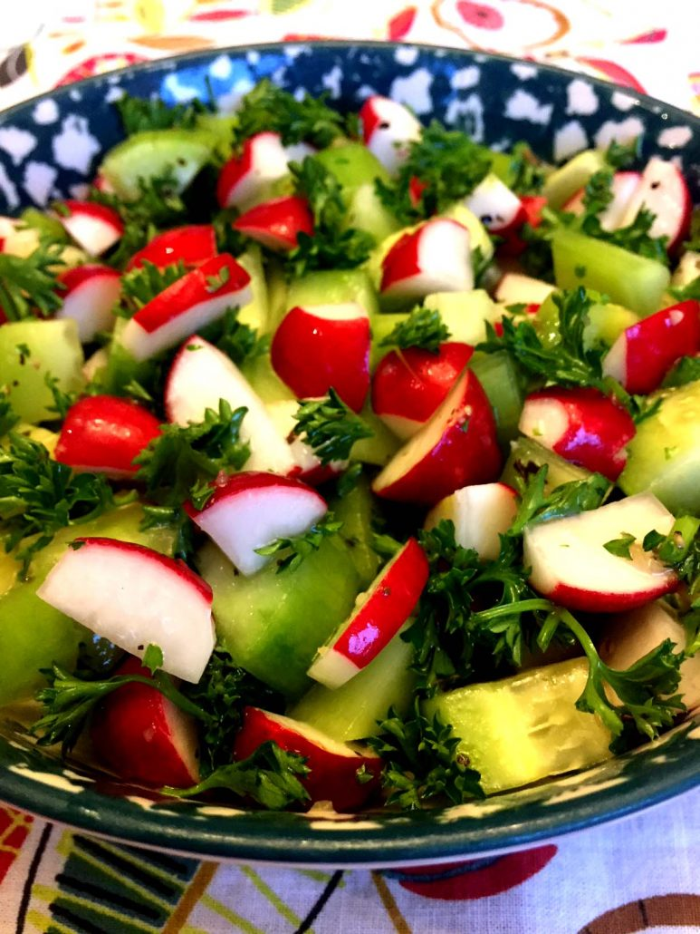 Salad With Red Radish