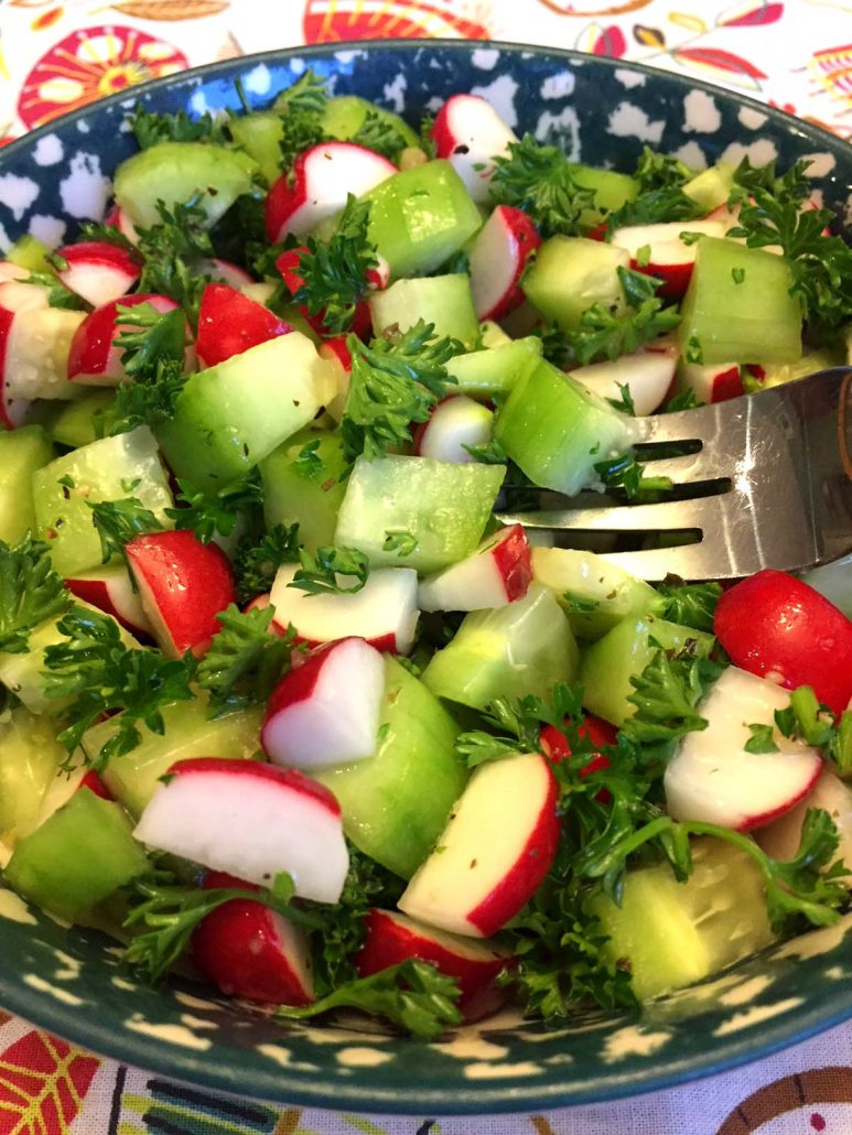 How To Make Cucumber Radish Salad