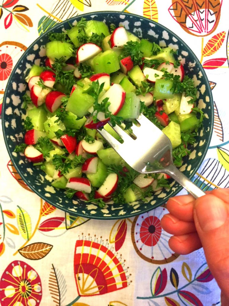 Healthy Fresh Radish Salad