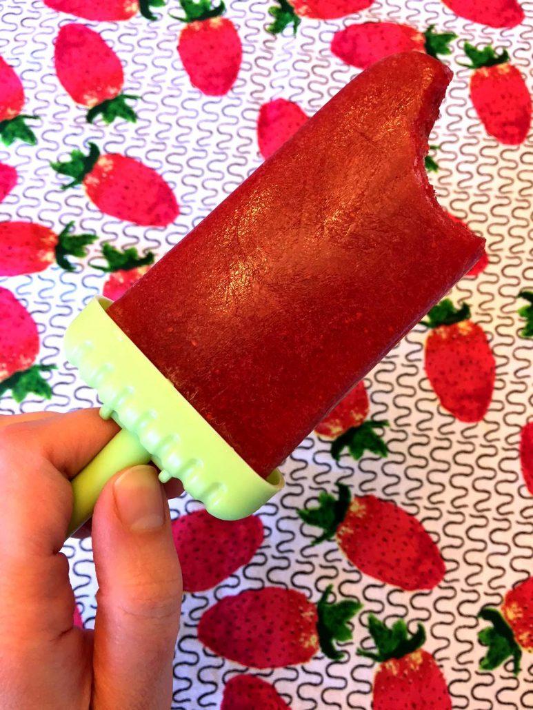Keto Strawberry Ice Pops