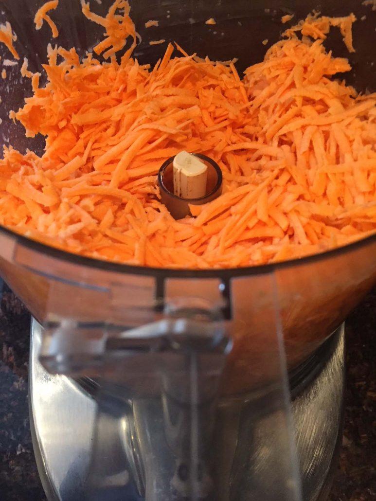 Shredded Sweet Potatoes In A Food Processor