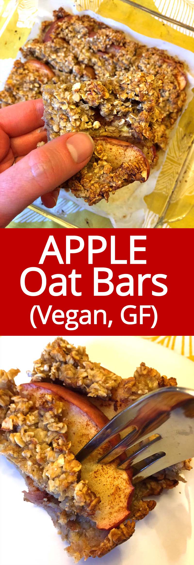 These amazing apple oatmeal squares are so healthy and delicious! Vegan, gluten-free, refined sugar-free! This is my perfect breakfast and snack!