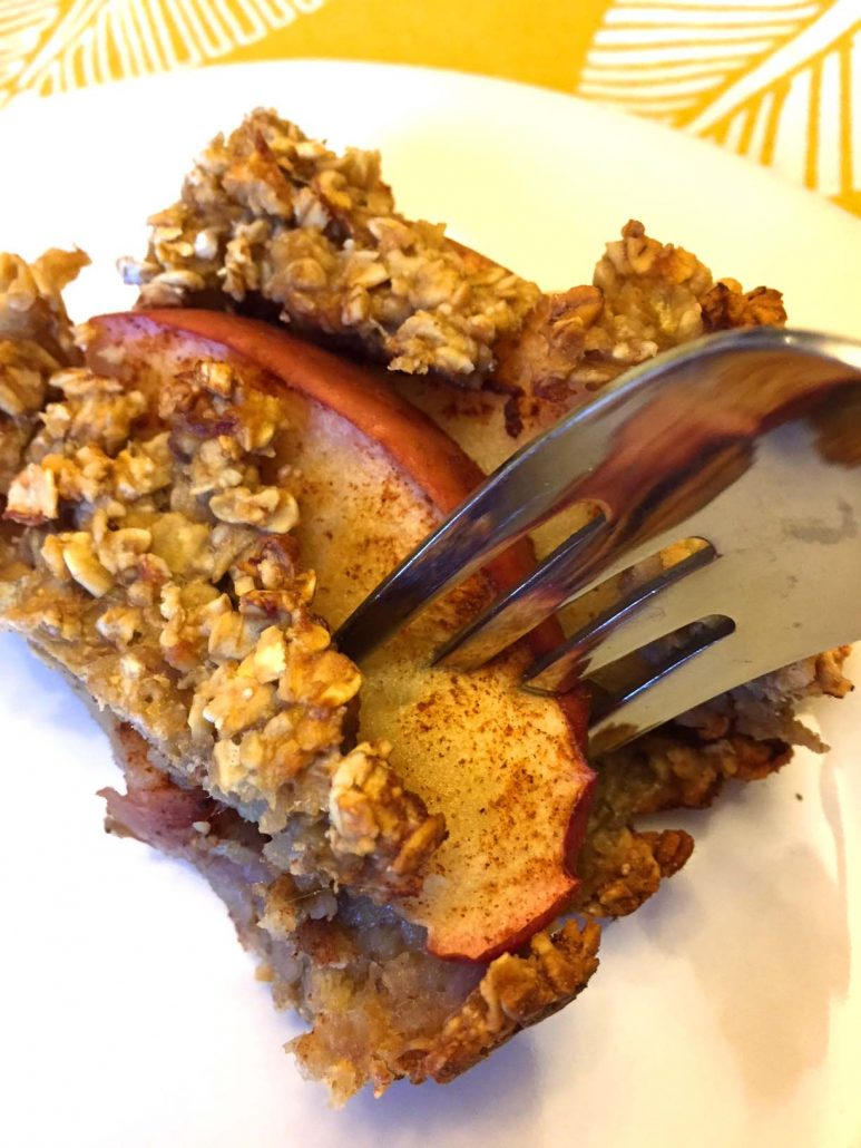 Baked Apple Oatmeal Squares