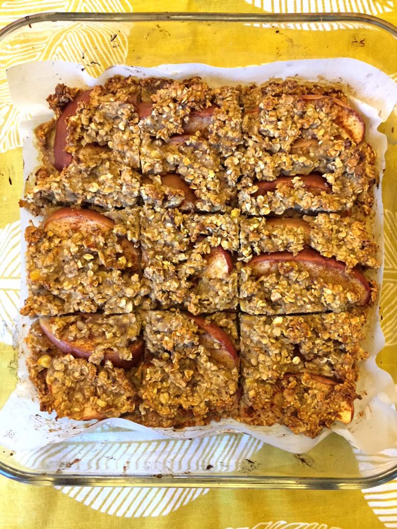 How To Make Banana Apple Cinnamon Oat Bars