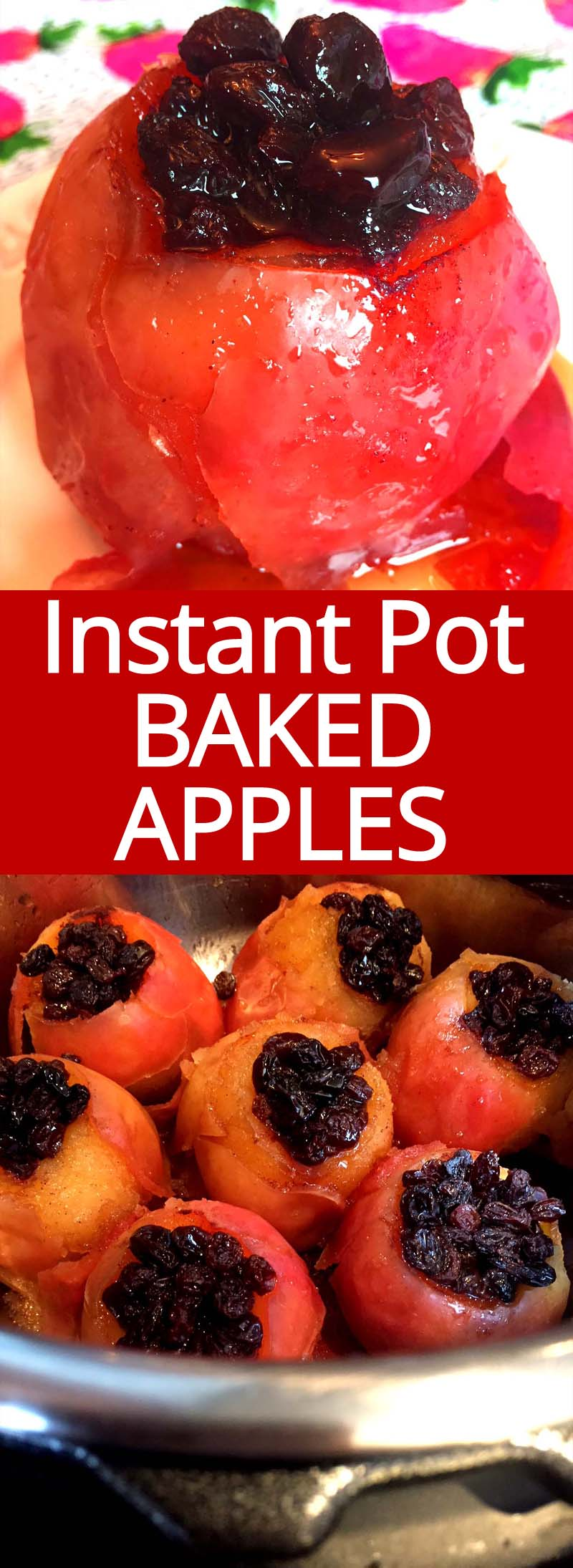 OMG these Instant Pot baked apples are amazing! So easy to make, healthy and yummy! I love my Instapot!