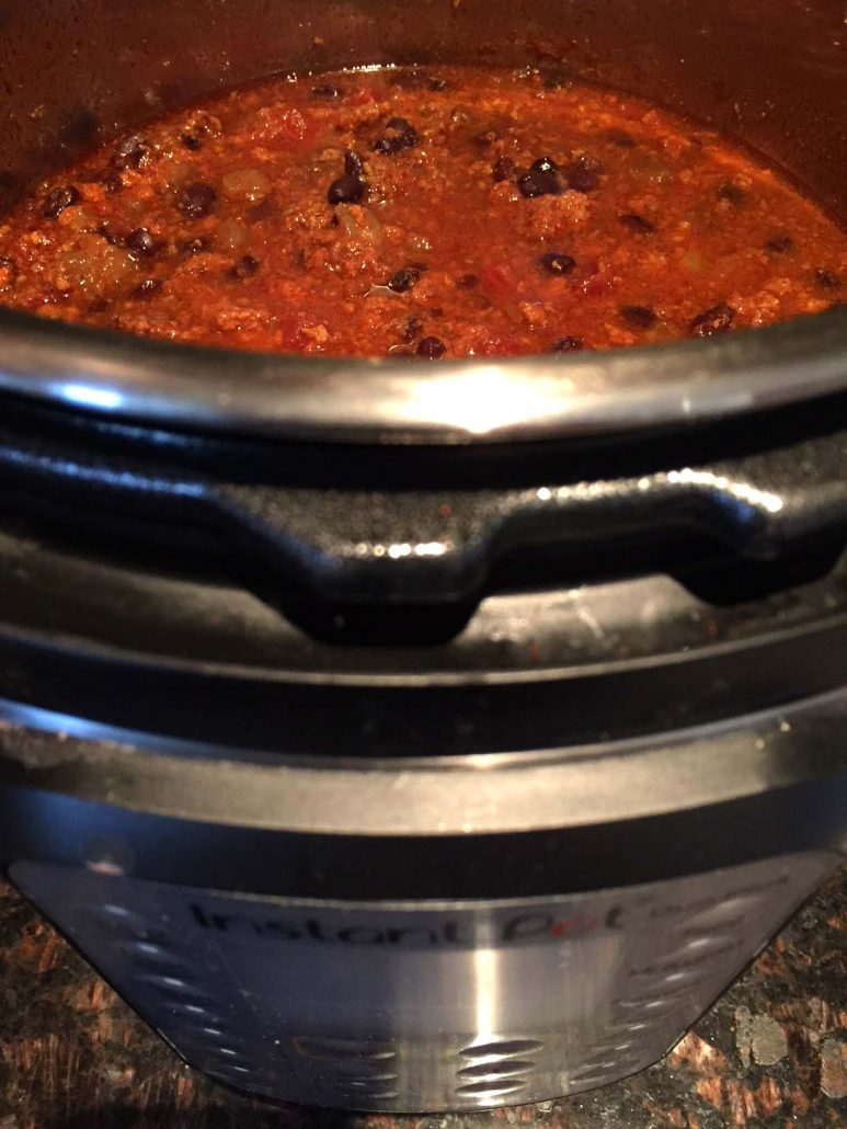 Making Chili In The Instant Pot Pressure Cooker