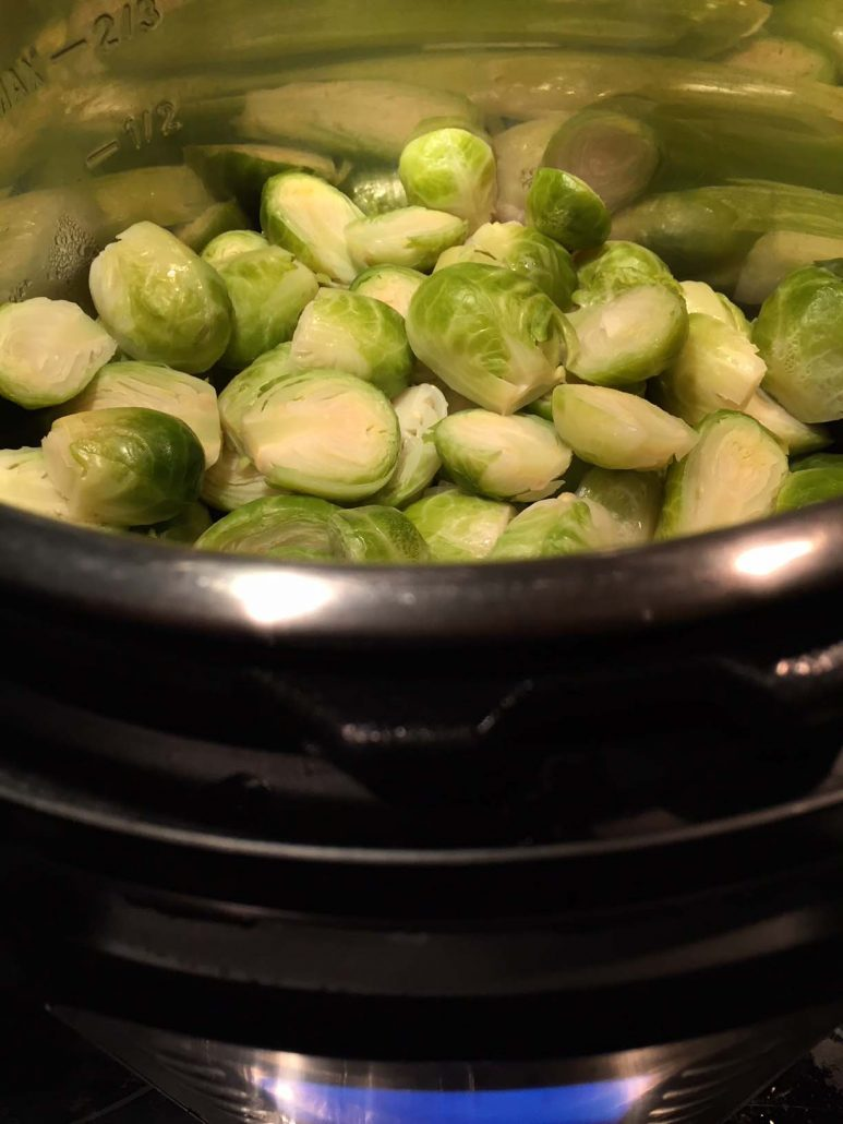 How to cook brussel sprouts in instant pot