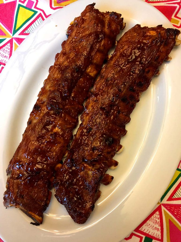 2 whole slabs of BBQ ribs