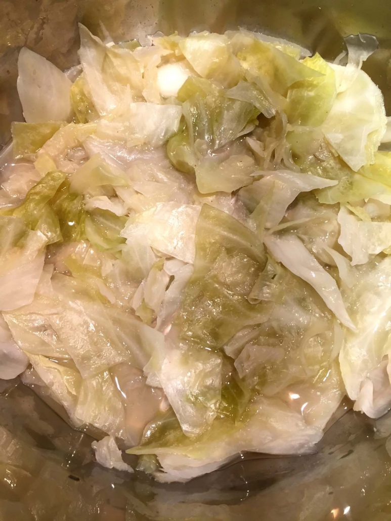 Tender Instant pot cabbage
