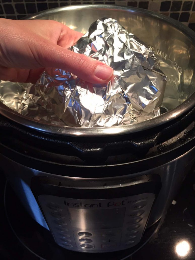 Instant Pot Foil Wrapped Hamburgers
