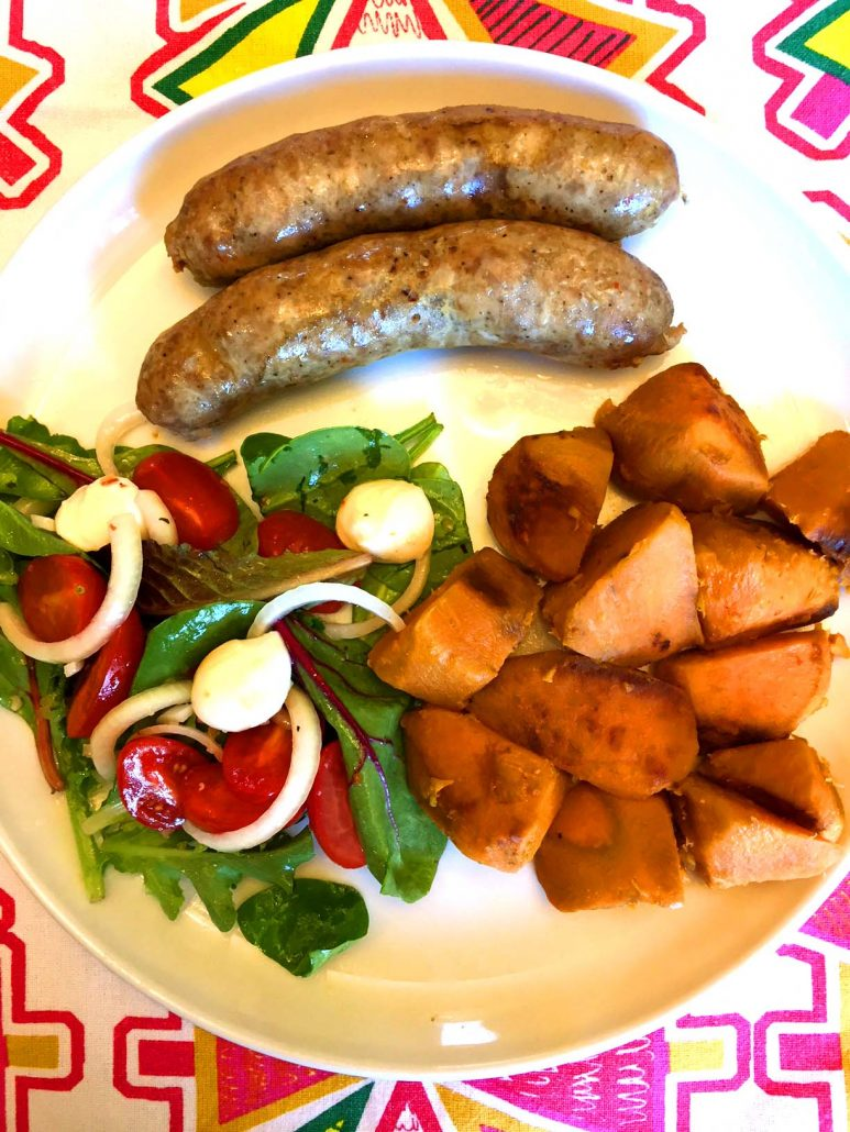 Instant Pot Sausage Sweet Potatoes Salad