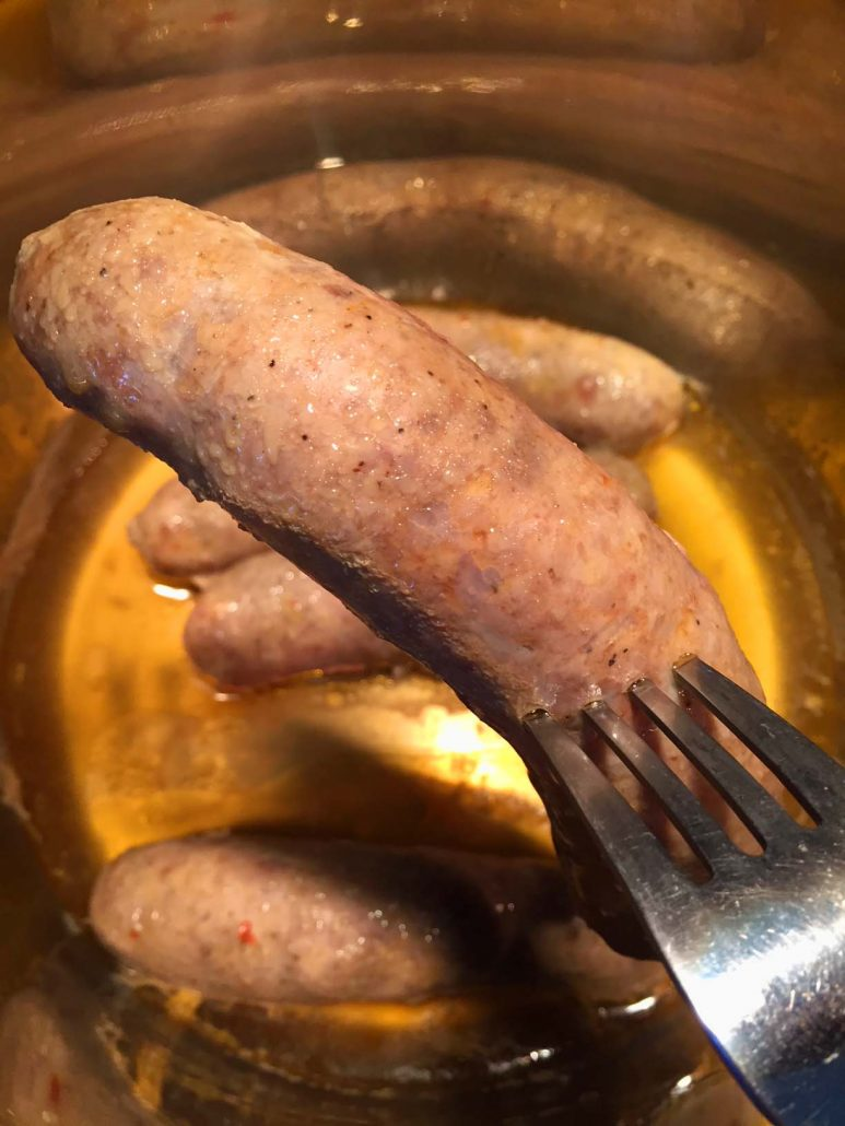 Pressure Cooker Sausage