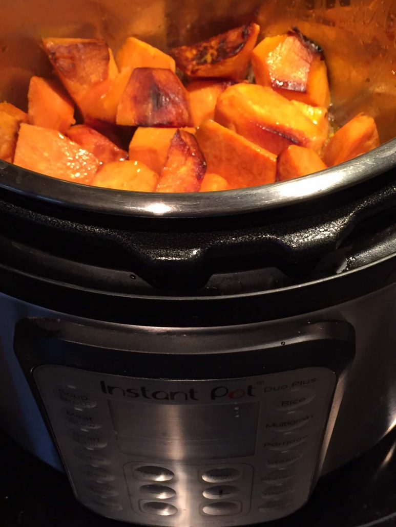 Pressure Cooker Roasted Sweet Potatoes