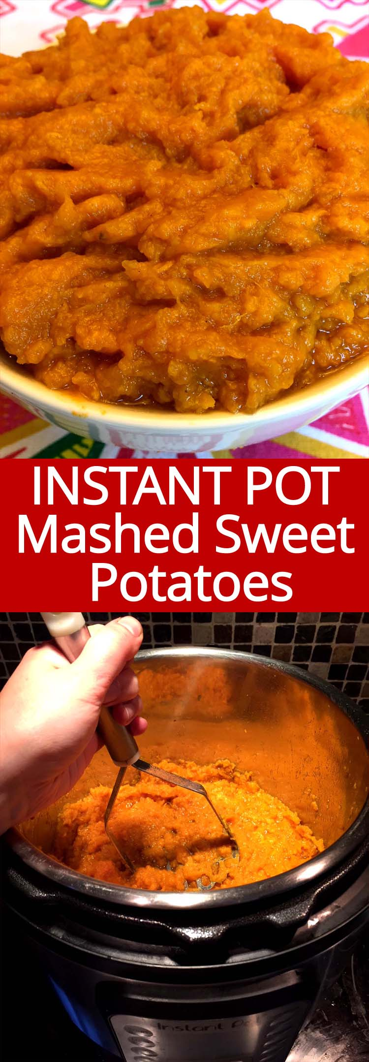 Instant Pot mashed sweet potatoes are so easy to make and taste amazing! Super smooth texture, yummmmmm!