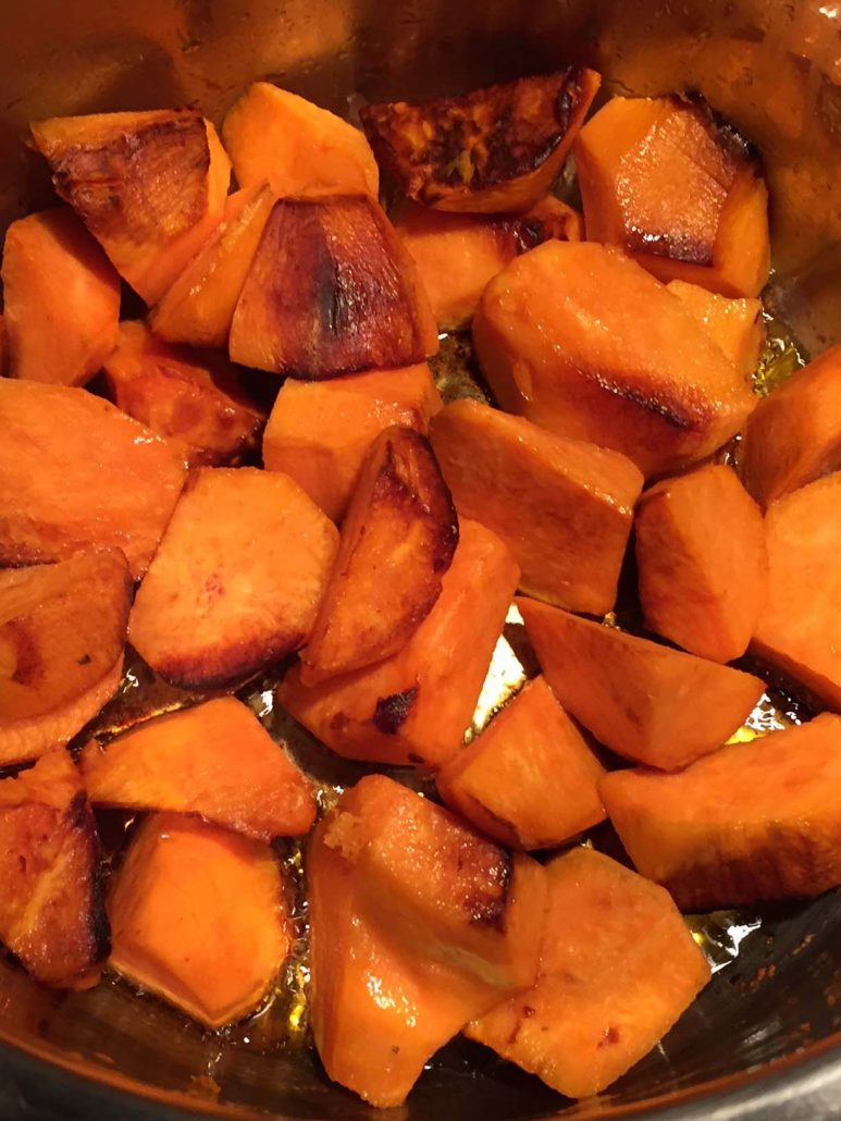 Instant Pot Roasted Sweet Potatoes Saute Function