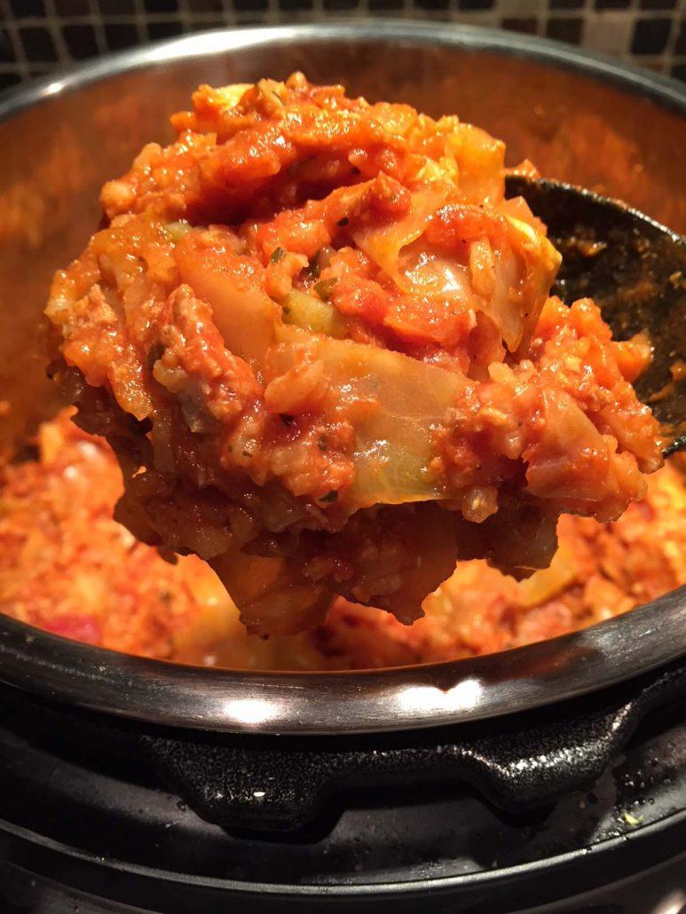 Instant Pot Unstuffed Cabbage Rolls Casserole