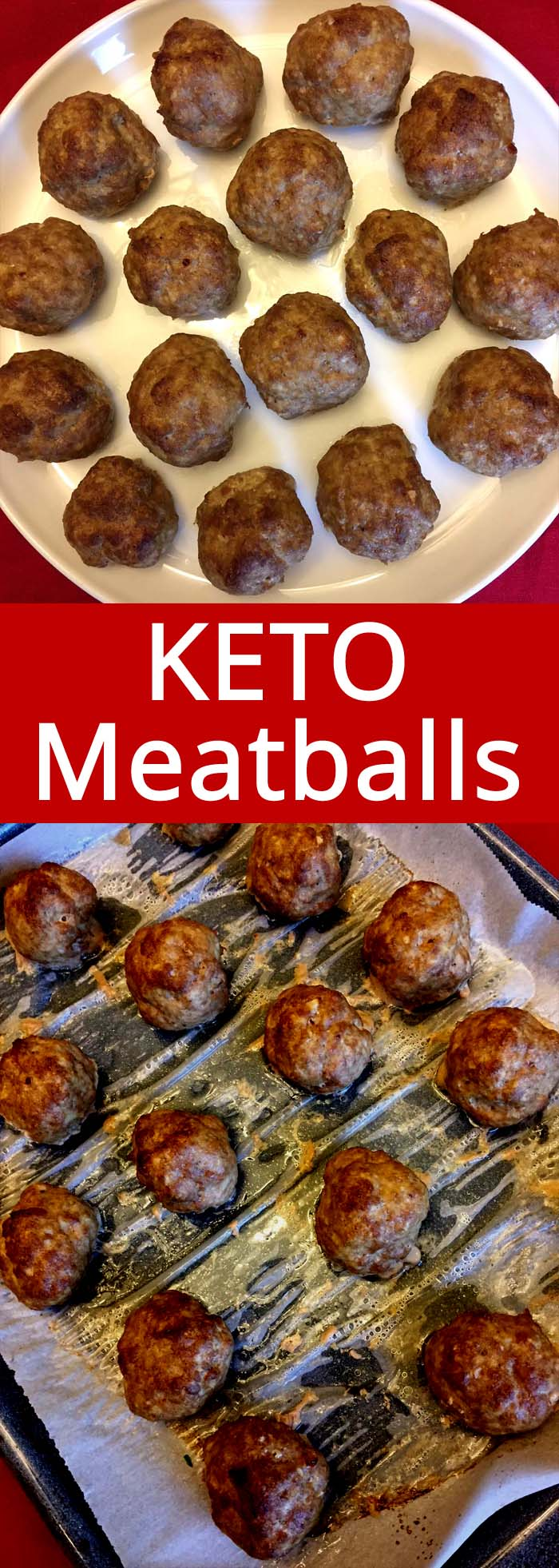 These baked keto meatballs are the best keto meatballs ever! I make a huge batch for meal prep!