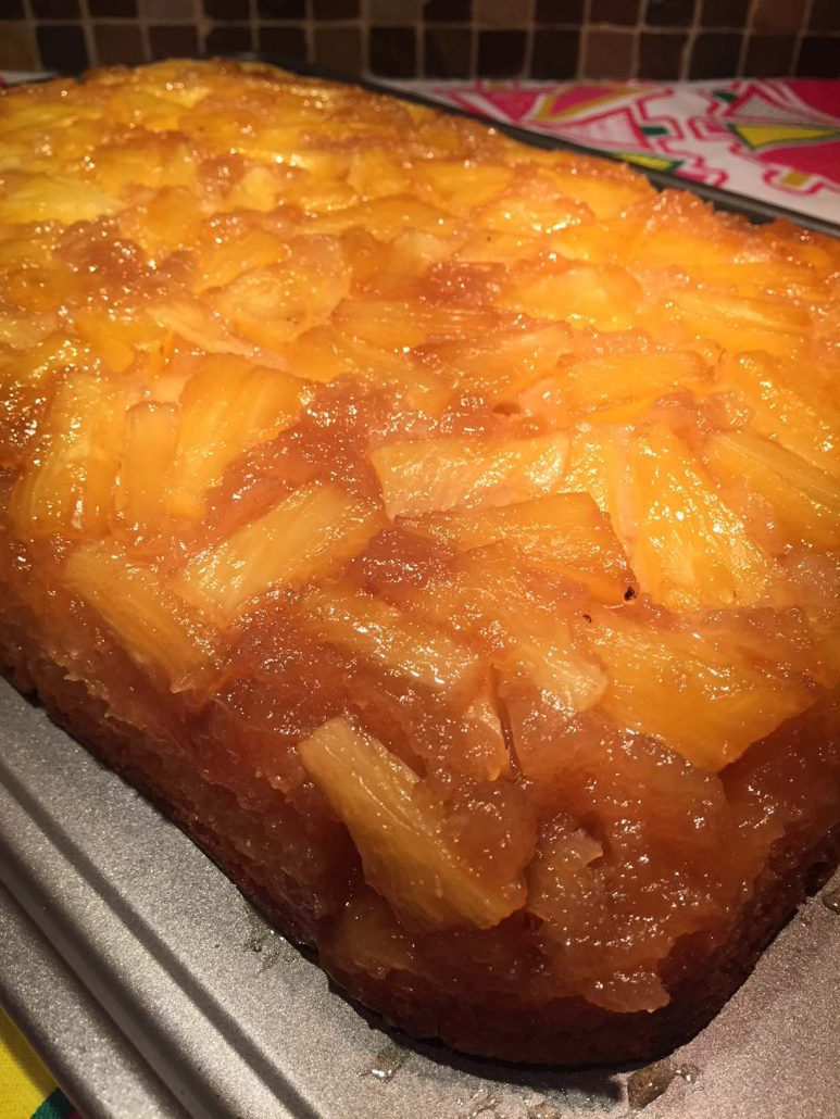 Pineapple Upside Down Cake With Fresh Or Canned Pineapple