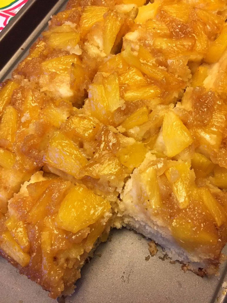 Pineapple Upside Down Cake From Scratch With Fresh Pineapple