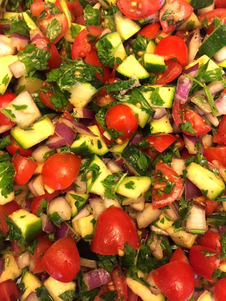 How To Make Raw Zucchini Salad