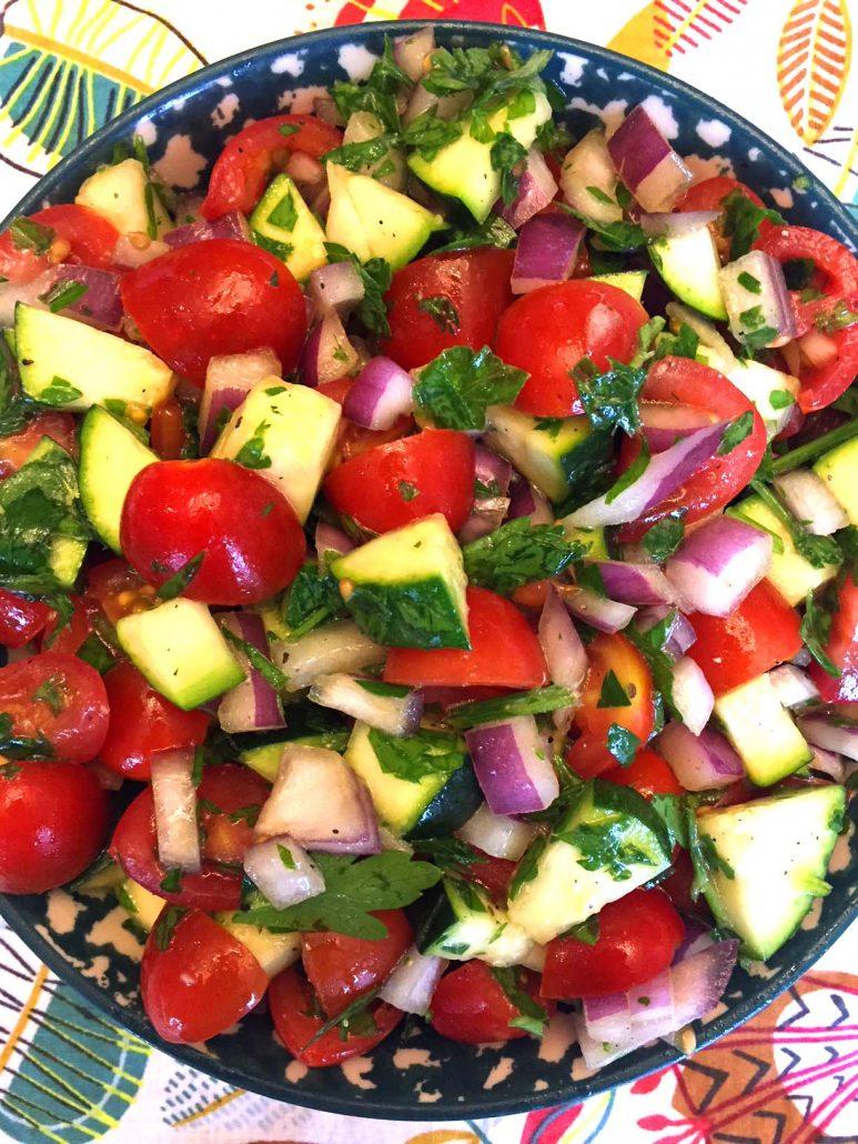Easy Raw Zucchini Salad
