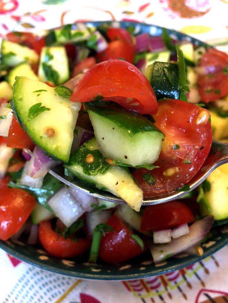 Zucchini Tomato Salad Healthy Recipe
