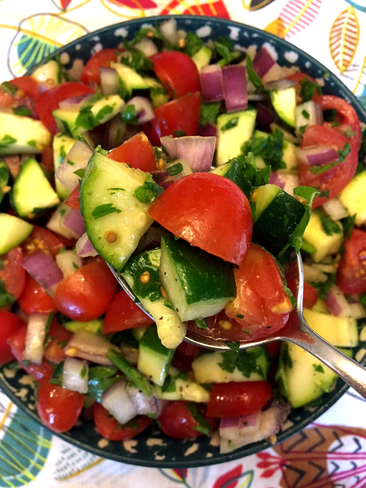 Raw Zucchini Tomato Salad Recipe Melanie Cooks