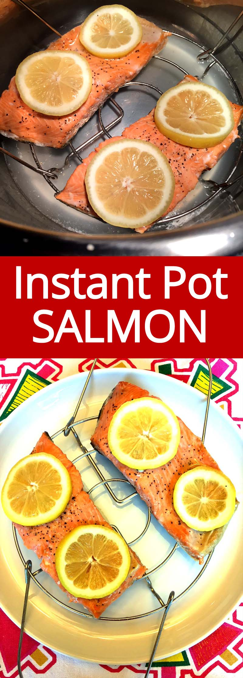 This Instant Pot salmon is amazing and ready in 3 minutes! So tender and juicy, this is the only salmon recipe I'll ever need!