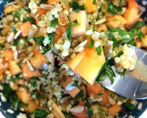 Papaya Salad With Quinoa And Sunflower Seeds
