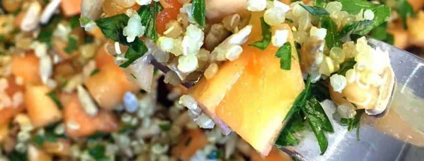 Papaya Salad With Quinoa And Sunflower Seeds