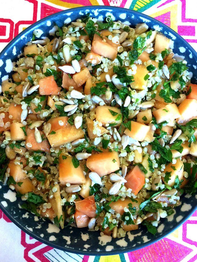 Vegan Papaya Quinoa Salad