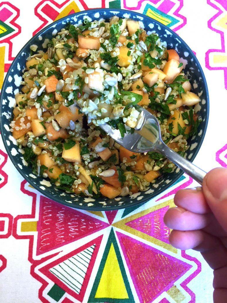 How To Make Quinoa Salad With Papaya