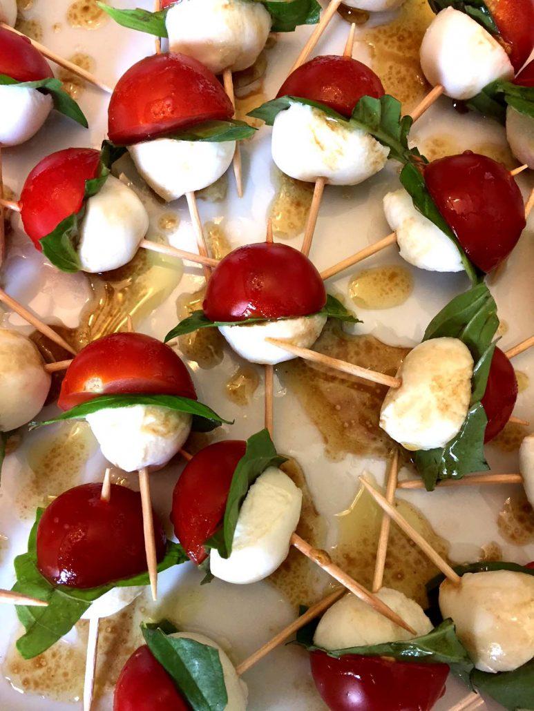 Caprese Tomato Basil Mozzarella Skewers Appetizers