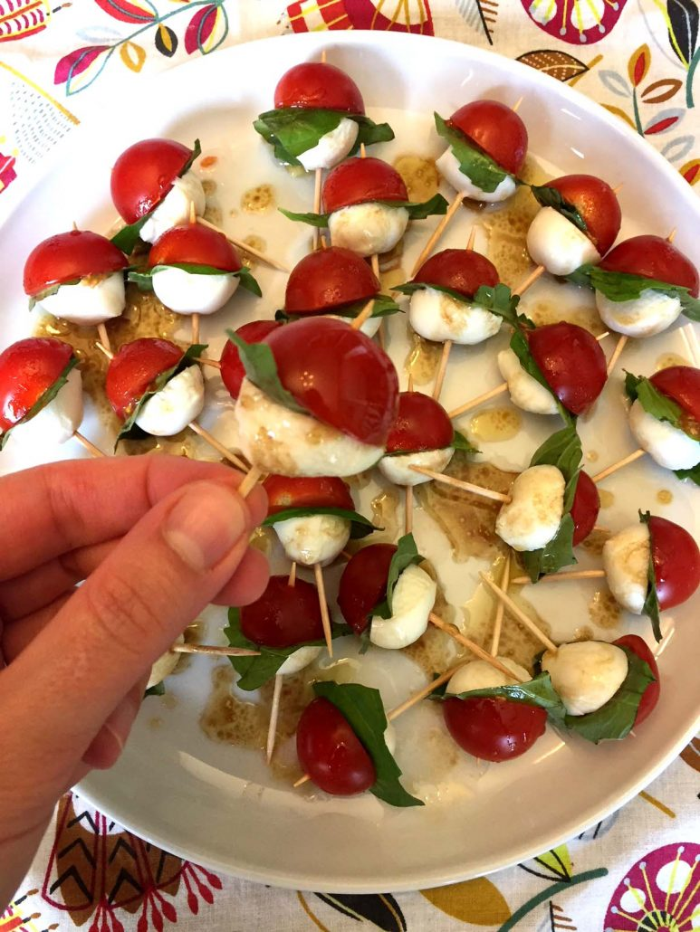 Easy Caprese Salad Skewers