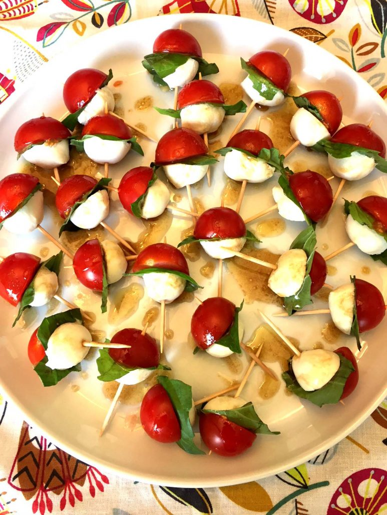 Caprese Skewers Appetizer