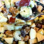 Waldorf Salad With Celery, Apples, Walnuts and Raisins