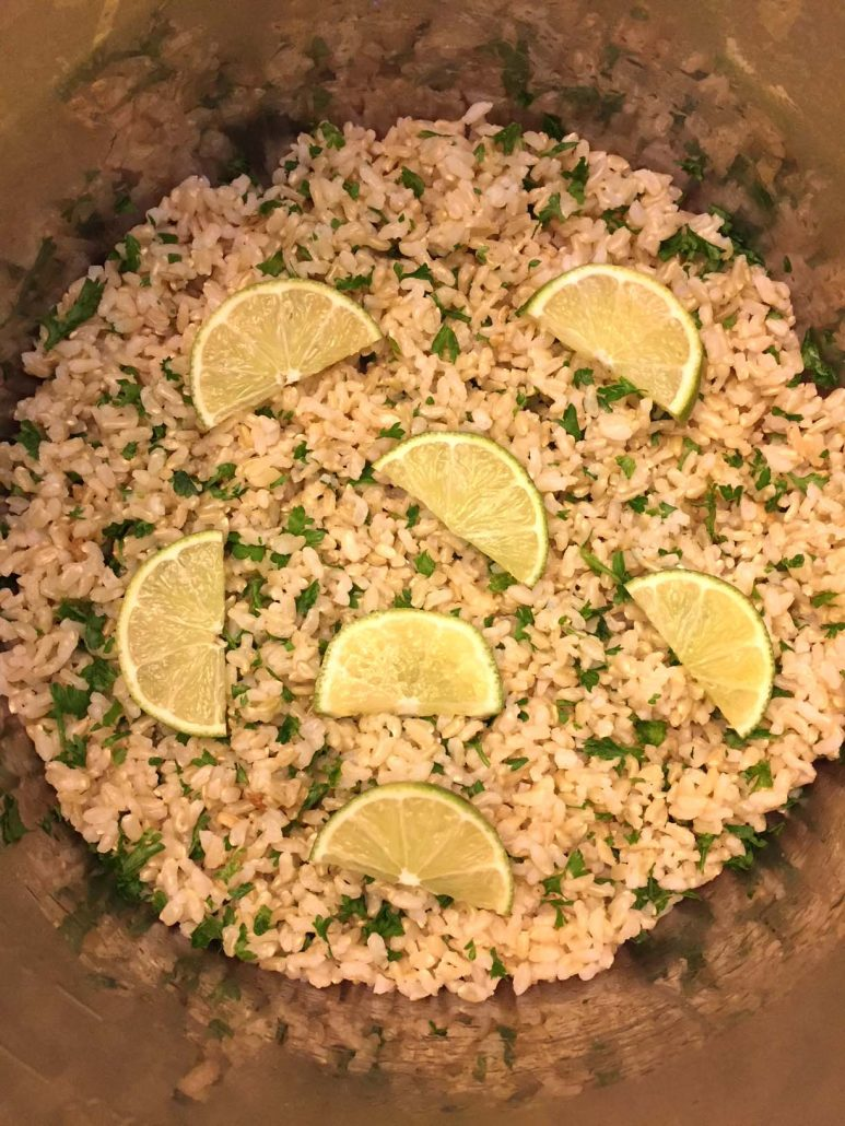 Pressure Cooker Cilantro Lime White Or Brown Rice