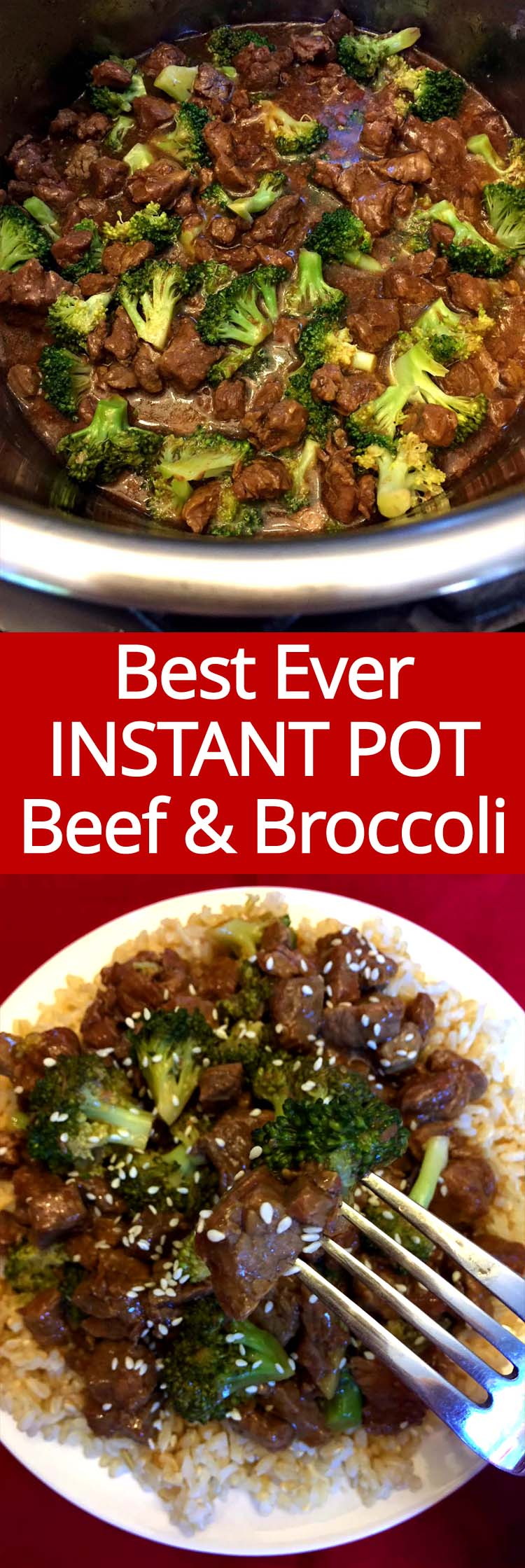 This Instant Pot beef and broccoli is a keeper! So easy to make and tastes exactly like Chinese takeout!