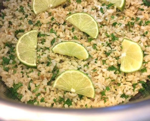 how to make cilantro lime rice in the Instant Pot