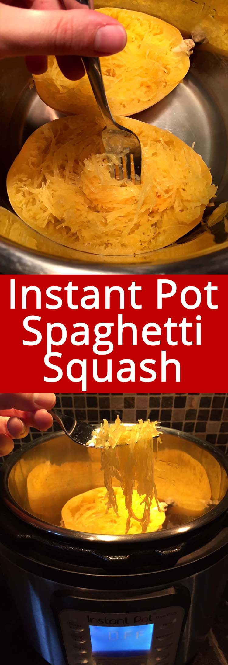 Instant Pot is the best method for cooking spaghetti squash! So quick and easy! Great low-carb alternative to pasta! Once you try making spaghetti squash in your Instant Pot, you'll never make it any other way!