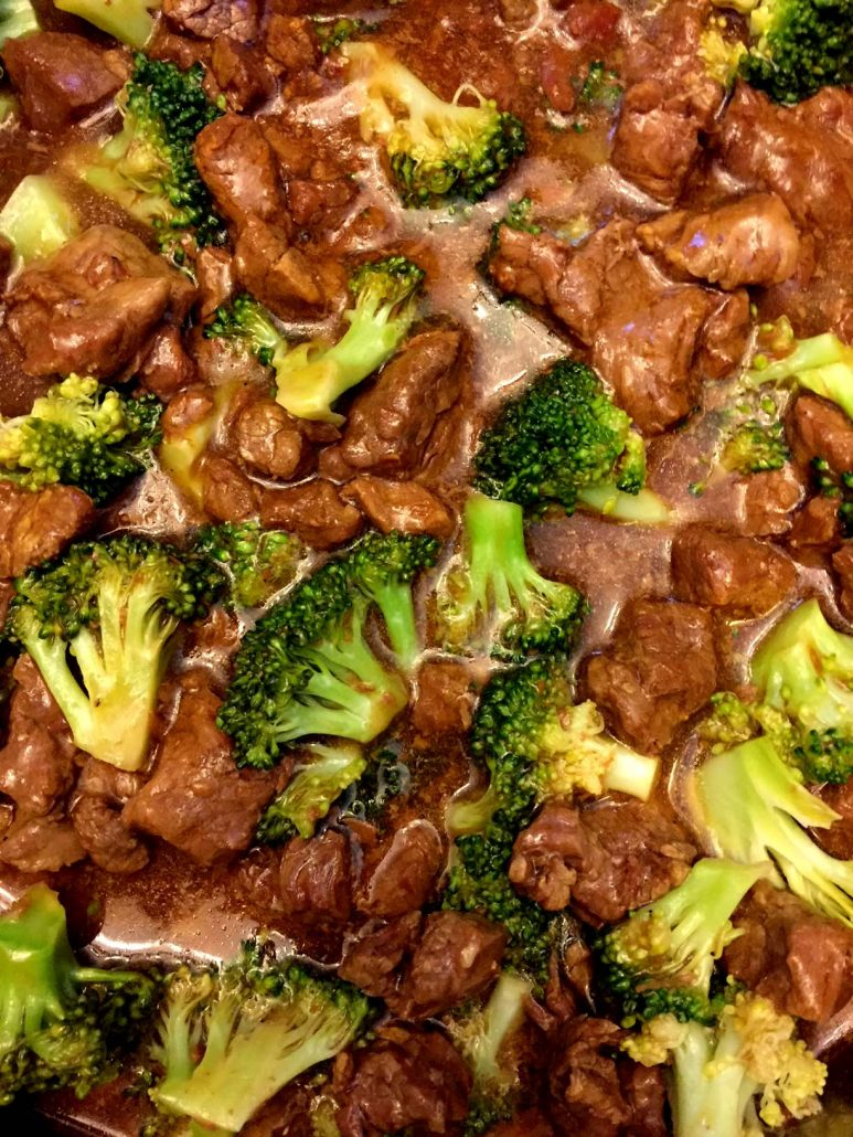 Homemade beef and broccoli