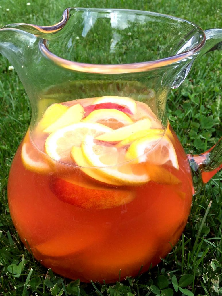 Pressure Cooker Peach Lemonade