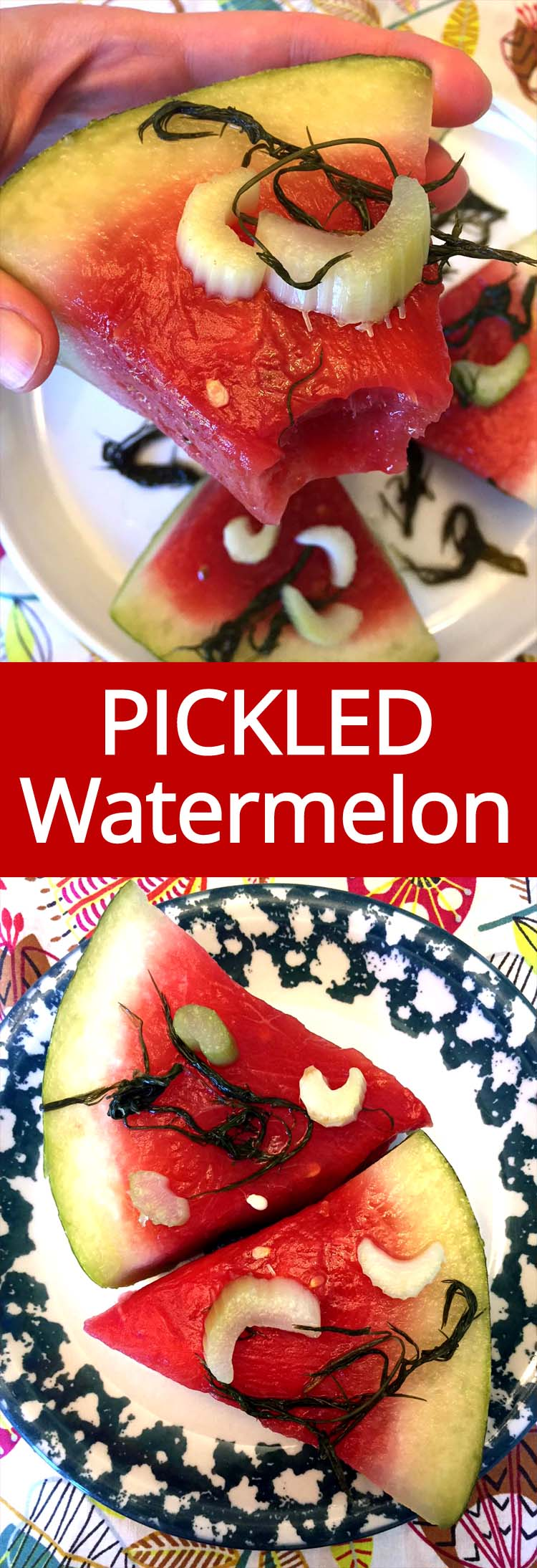 OMG PICKLED WATERMELON! This stuff is so addictive! Sweet & savory - out of this world! I just can't stop eating these watermelon pickles!