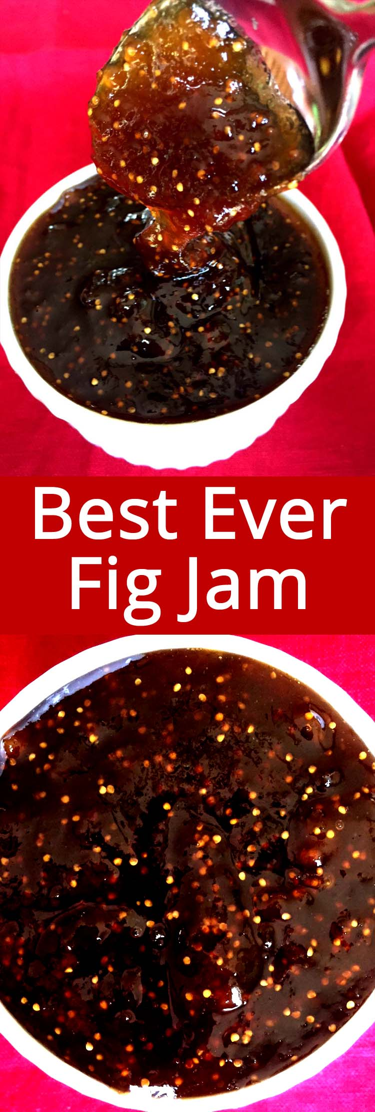 This homemade fig jam is amazing! Made with fresh figs, this is the best fig jam you'll ever have! Super easy to make, this fig jam is a star of any cheese platter!