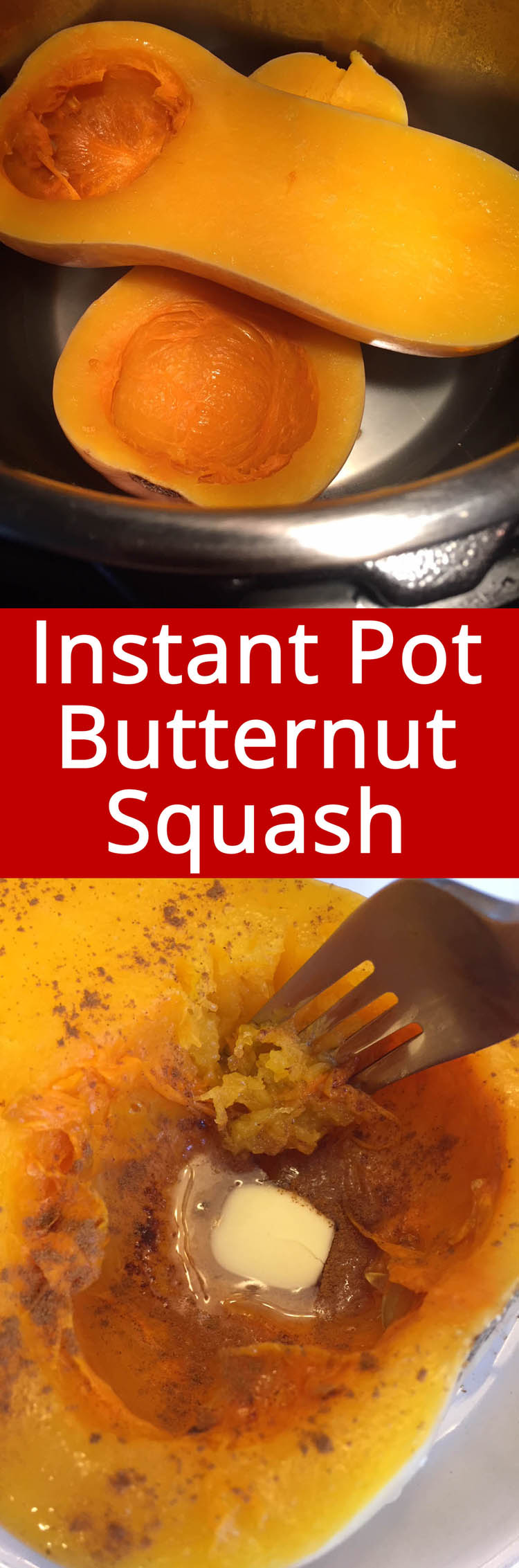 Instant Pot butternut squash is perfectly cooked and so easy!  This is hands down the best method of cooking butternut squash! Delicious!